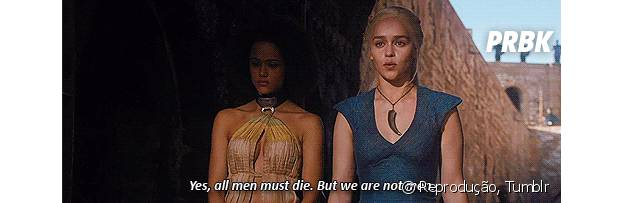 """All men must die"" menos a Khalessi (Emilia Clarke) de ""Game of Thrones""!"