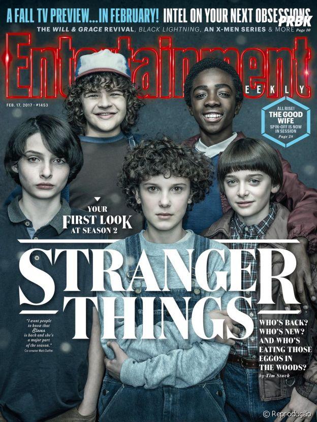 """De """"Stranger Things"""": imagem dos atores chama atenção por diferença no visual da Eleven"""