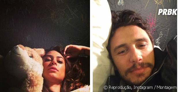 Thaila Ayala pode ter tirado foto na cama de James Franco