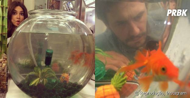 Thaila Ayala e James Franco iram foto com o mesmo peixe