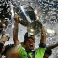 Iker Casillas comemorando título pelo Real Madrid!