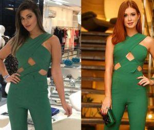 """Marina Ruy Barbosa e Vivian, do """"BBB17"""", usaram o mesmo macacão verde!"""
