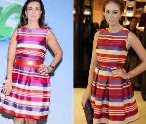 Fatima Bernardes e Marina Ruy Barbosa com vestidos iguais!