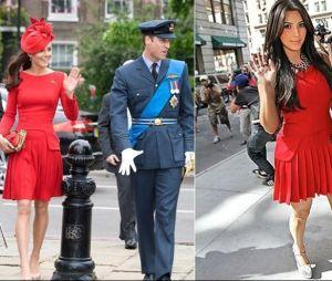 Kate Middleton e Kim Kardashian com vestidos iguais!