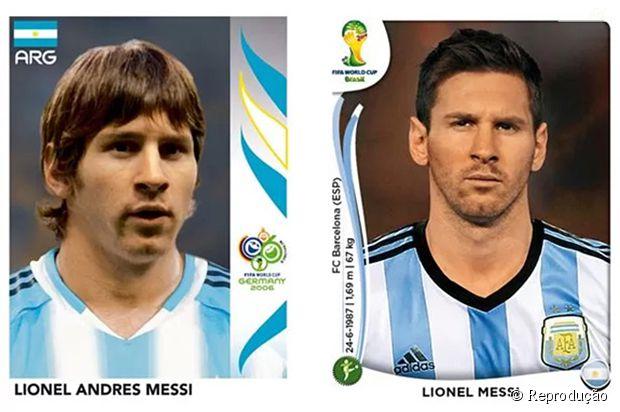 Messi antes e depois