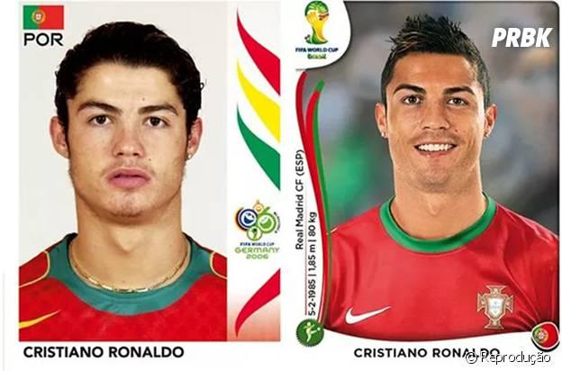 Cristiano Ronaldo antes e depois.