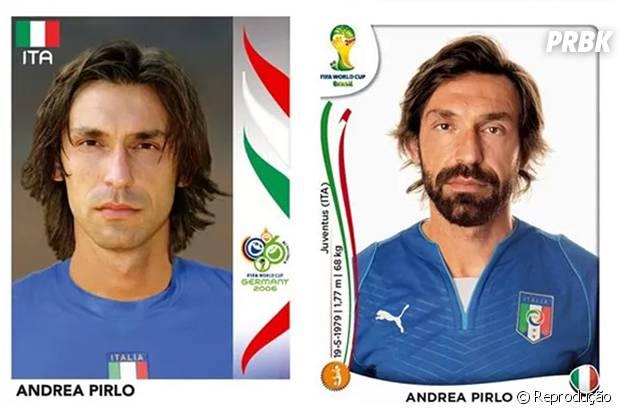 Pirlo, da Itália, antes e depois
