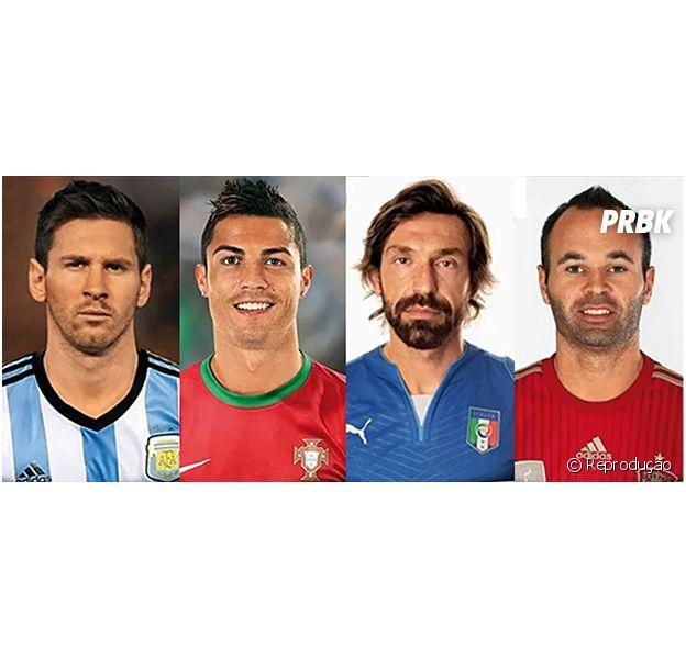 Antes e depois dos jogadores da Copa