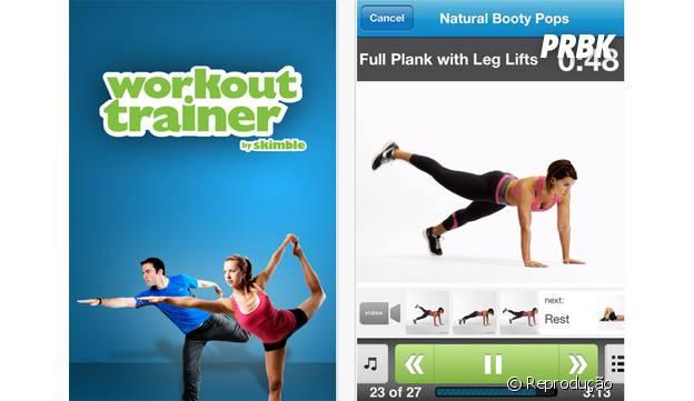 Aplicativo Workout Trainer te mostra vários exercícios para fazer em qualquer lugar
