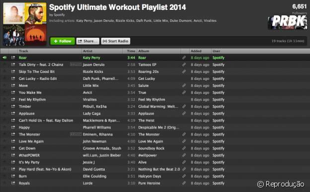 Você pode montar as melhores playlists para animar seus treinos pelo Spotify