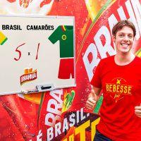 Fábio Porchat, Paolla Oliveira e famosos fazem bolão para Brasil e Camarões