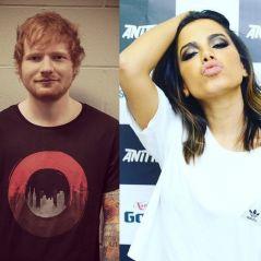 """Ed Sheeran elogia Anitta em vídeo: """"Adoraria ouvir mais músicas"""""""