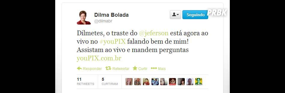 Dilma Bolada fala sobre a presentação de Jeferson no youPIX Rio. Ou será o contrário?
