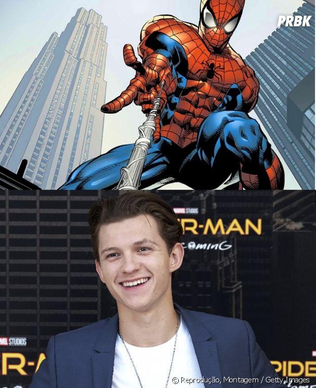 Homem-Aranha e Tom Holland têm uma diferença bem grande de idade!