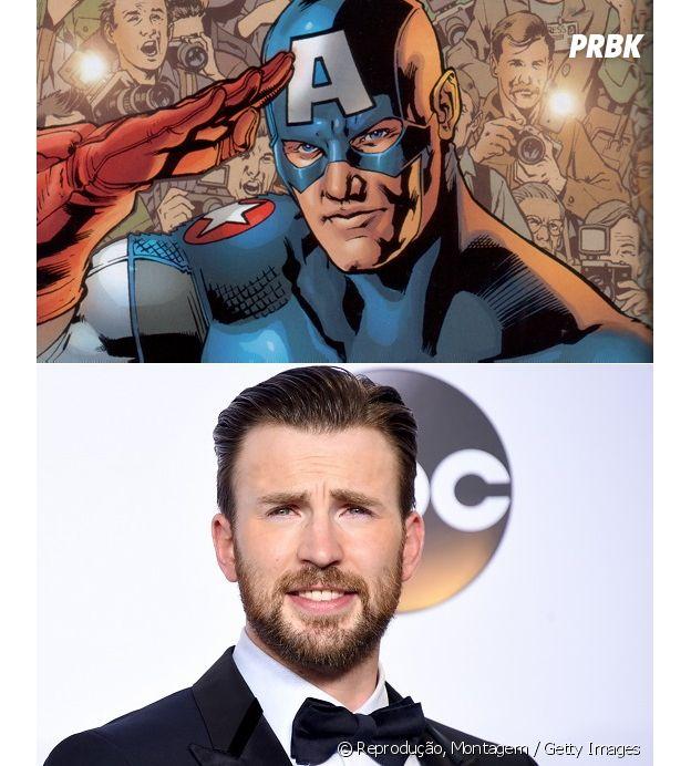 Chris Evans e Capitão América têm idades diferentes