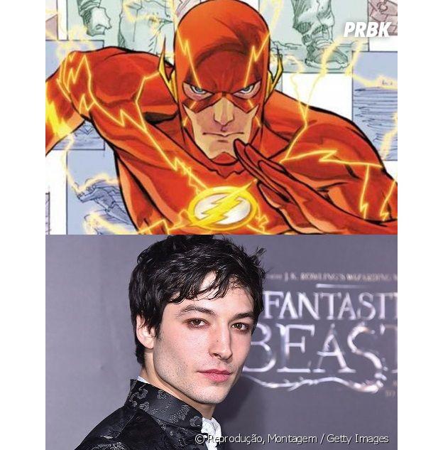 Flash e Ezra Miller têm idades bem diferentes