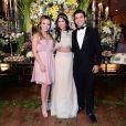 Larissa Manoela e Thomaz Costa estiveram no aniversário de 15 anos da Fernanda Concon e provavaram que continuam sim amigos