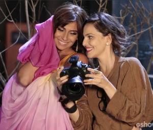 """Na novela """"Em Família"""", Clara (Giovanna Antonelli) e Marina(Tainá Müller) viveram lindos momentos durante a trama até conseguirem assumir a relação"""