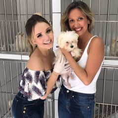 "Larissa Manoela visita Instituto Luisa Mell e se emociona: ""Adotem e deem amor"""