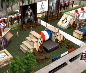 """""""Assassin's Creed Experience"""" é uma pista de parkour montada no stand da Ubisoft na Comic-Con San Diego"""