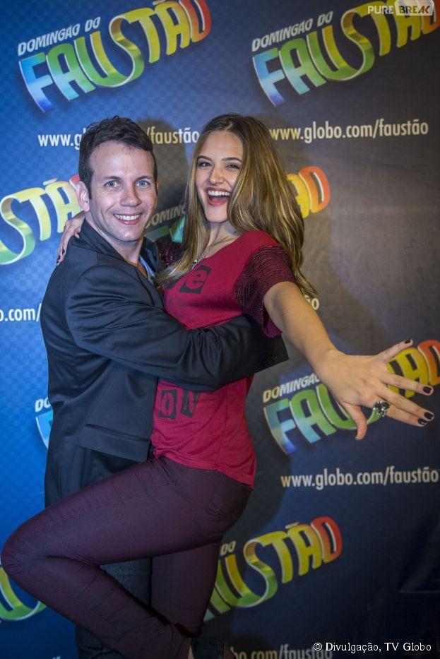 """Na """"Dança dos Famosos"""", Juliana Paiva dança com o baiano Saulo Rangel"""