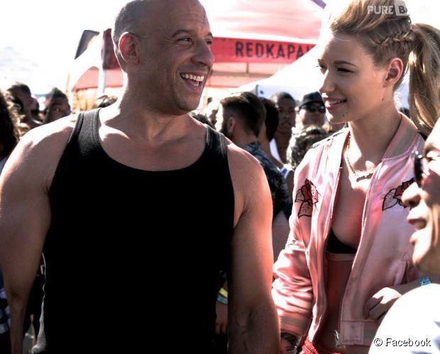 """Vin Diesel publica foto com rapper Iggy Azalea durante gravações de """"Velozes e Furiosos 7"""""""