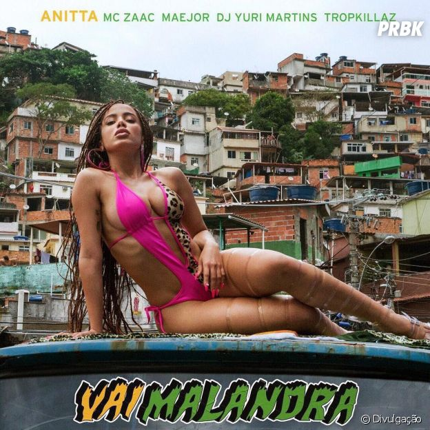 "Anitta surge sexy na capa do single ""Vai Malandra"""