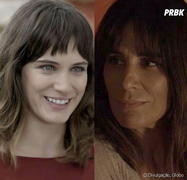 """Em """"O Outro Lado do Paraíso"""": Clara (Bianca Bin) finalmente descobre que Duda (Gloria Pires) é sua mãe"""