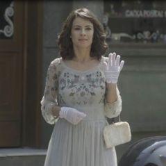 """Novela """"Tempo de Amar"""": Lucinda (Andreia Horta) finge atropelamento na frente de Inácio"""