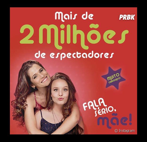 """Com Larissa Manoela, filme """"Fala Sério, Mãe"""" ultrapassa 2 milhões de espectadores!"""