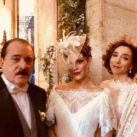 """Novela """"Tempo de Amar"""": Maria Vitória (Vitória Strada) e Vicente se casam. Veja as fotos!"""