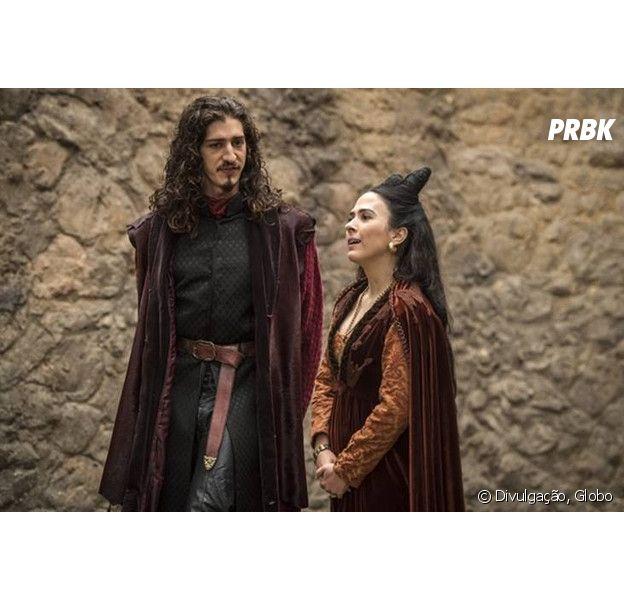 """Em """"Deus Salve o Rei"""", Lucrécia (Tatá Werneck) e Rodolfo (Johnny Massaro) podem ganhar mais destaque na trama"""