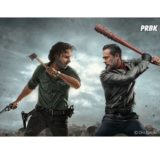 """Em """"The Walking Dead"""", Rick (Andrew Lincoln) toma atitude inesperada com relação a Negan (Jeffrey Dean Morgan)"""