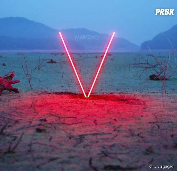 """Capa do novo CD do Maroon 5, """"V"""""""