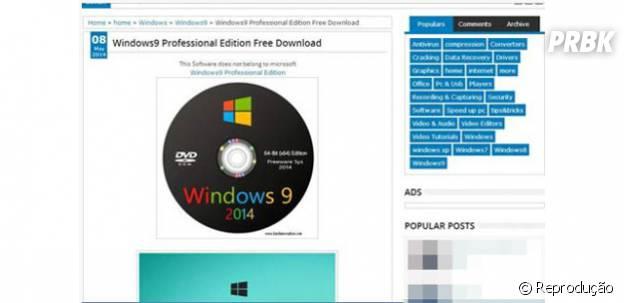 "Blogs inventam ""Windows 9"" para enganar internautas"