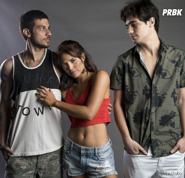 """Em """"Segundo Sol"""", Rosa (Letícia Colin) conhece Valentim (Danilo Mesquita) e descobre que ele é filho de Beto Falcão (Emilio Dantas)"""