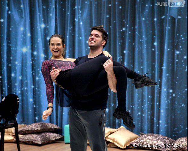 """Na """"Dança dos Famosos"""", Juliana Paiva está treinando com Átila Amaral"""