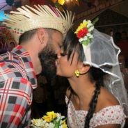 "Depois do ""BBB18"", Gleici e Wagner se casam em festa junina"