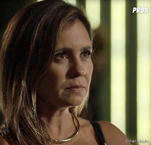 """Em """"Segundo Sol"""", Lureta (Adriana Esteves) fica furiosa depois de descobrir que Ícaro (Chay Suede) a deixou"""