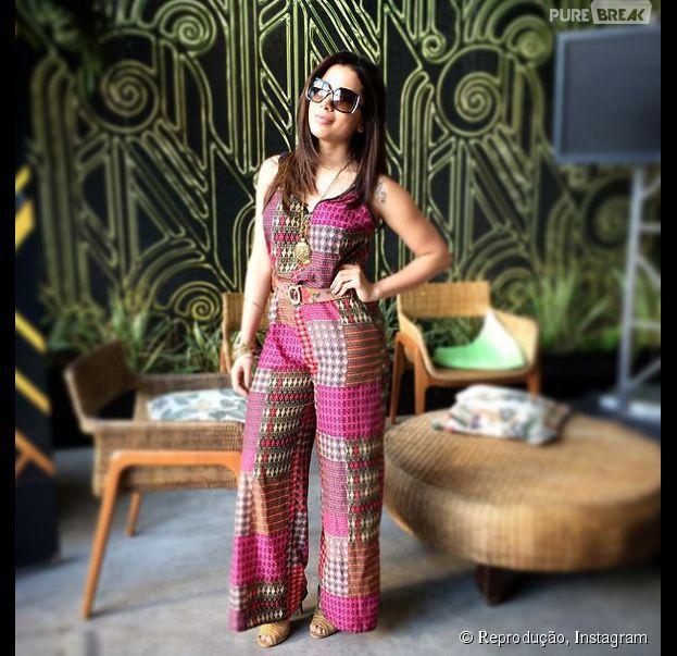 """Nesta quarta-feira (10), Anitta publicou uma foto de mais um dia de ensaio para o """"Dança dos Famosos"""""""