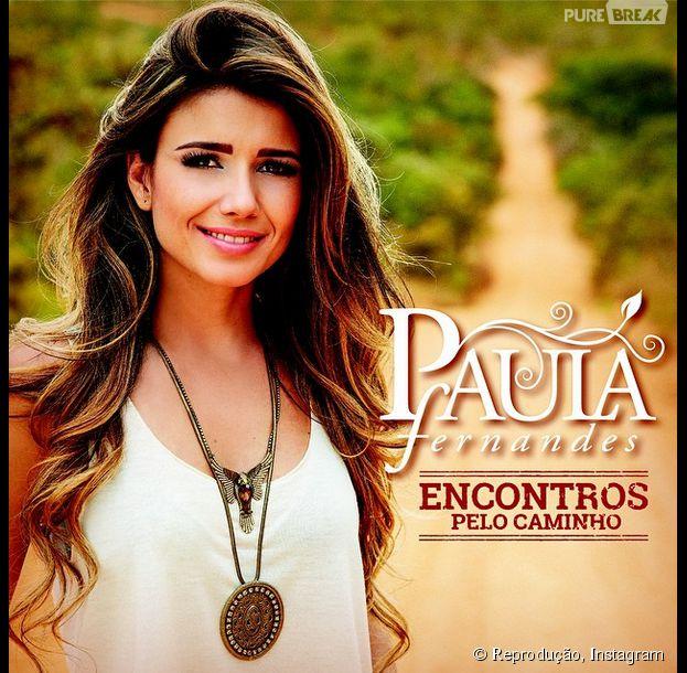 """Paula Fernandes apresenta a capa do seu novo CD, """"Encontros pelo Caminho"""""""