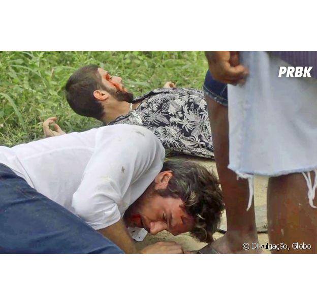 """Em """"Segundo Sol"""", Ícaro (Chay Suede) e Beto (Emilio Dantas) são brutalmente espancados"""