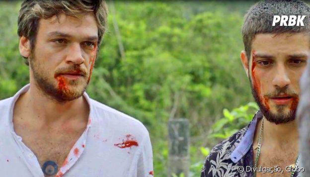 """Em """"Segundo Sol"""", Beto (Emilio Dantas) e Ícaro (Chay Suede) ficam em situação crítica após serem espancados"""