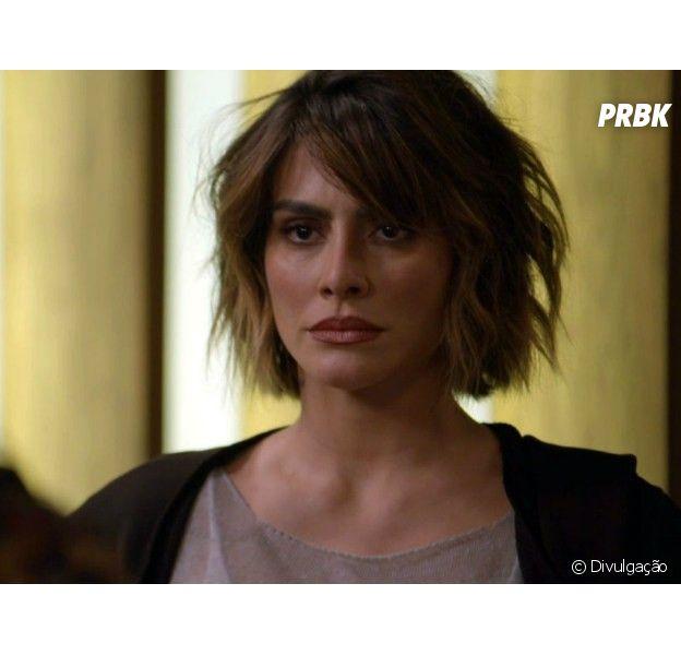 """Em """"O Tempo Não Para"""", Betina (Cleo) volta a atacar Marocas (Juliana Paiva)"""