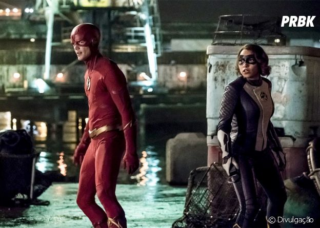 """Em """"The Flash"""", Barry (Grant Gustin) e Nora (Jessica Parker Kennedy) lutam contra o mal juntos"""