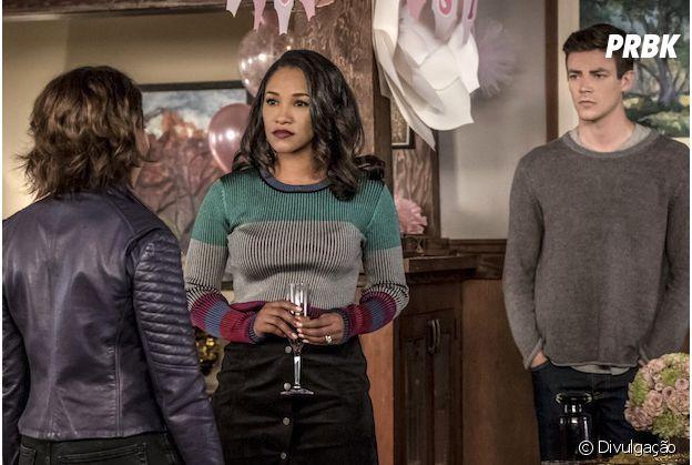 """Em """"The Flash"""", Nora (Jessica Parker Kennedy) fica presa no presente e precisa da ajuda de Barry (Grant Gustin) e Iris (Candice Patton)"""