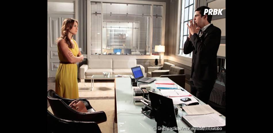 """Em """"Amor à Vida"""", Paloma (Paolla Oliveira) vai bater em Félíx (Mateus Solano) quando descobrir a verdade sobre o desaparecimento de Paulinha (Klara Castanho)!"""