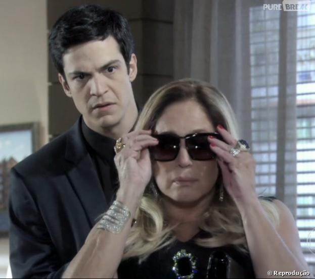 """Pilar (Susana Vieira) vai expulsar Félix (Mateus Solano) de casa em """"Amor à Vida""""!"""