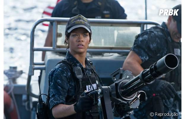 """Rihanna atuando no filme """"Battleship - A Batalha dos Mares"""""""