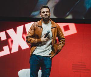 """Sebastian Stan, o Soldado Invernal dos filmes dos """"Vingadores"""", também marcou presença no painel da Marvel na CCXP 2018"""